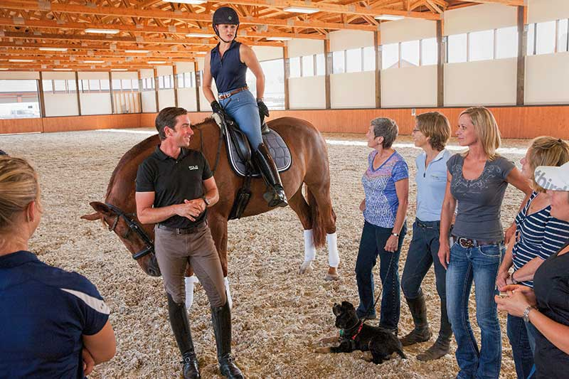 David Blake during a clinic at Silver Tail Farm